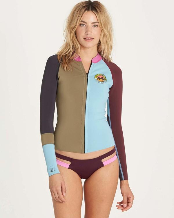 0 Girls' Peeky Jacket Wetsuit Top  GWSHLSCL Billabong