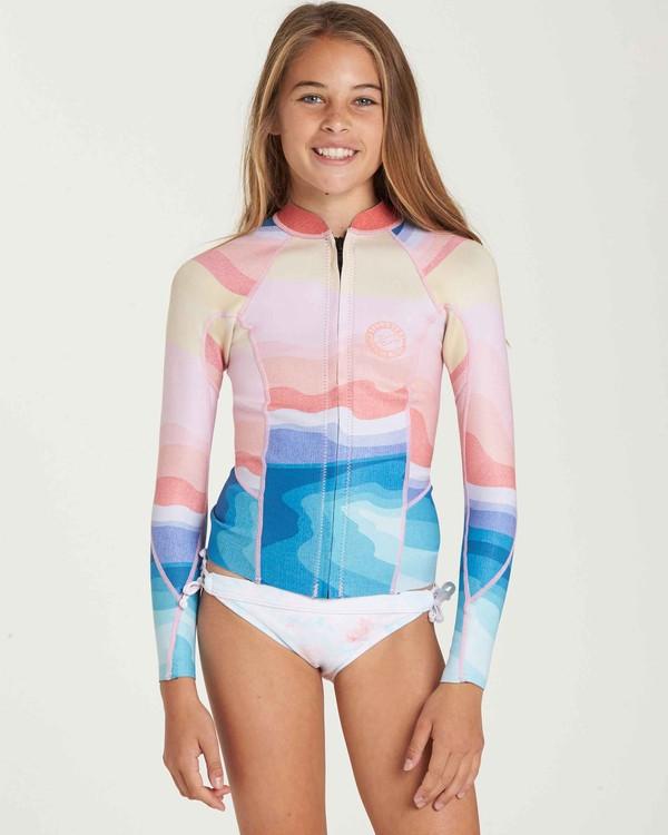 0 Girls' 1mm Peeky Wetsuit Jacket  GWSHQBSL Billabong