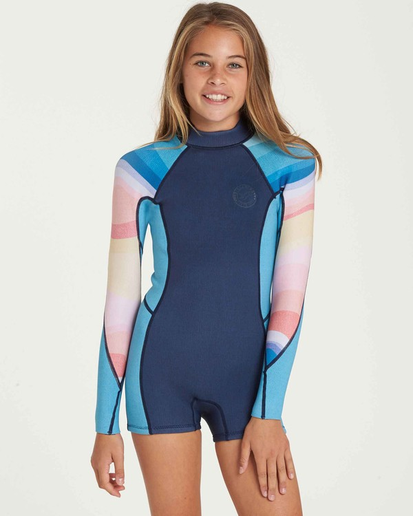 0 Girls' Spring Fever Long Sleeve Back Zip Springsuit  GWSPQBSF Billabong
