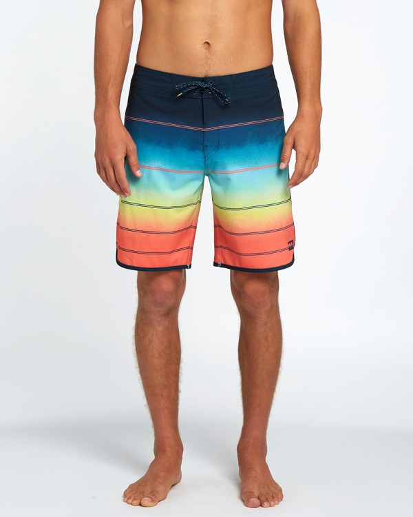 "0 73 X Stripe 19"" Boardshorts Orange H1BS08BIP8 Billabong"