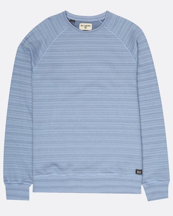 0 Die Cut Stripe Crew Fleece Bleu H1FL04BIP8 Billabong
