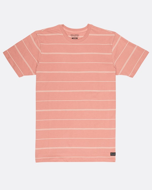 0 Die Cut Stripe T-Shirt Rouge H1JE12BIP8 Billabong
