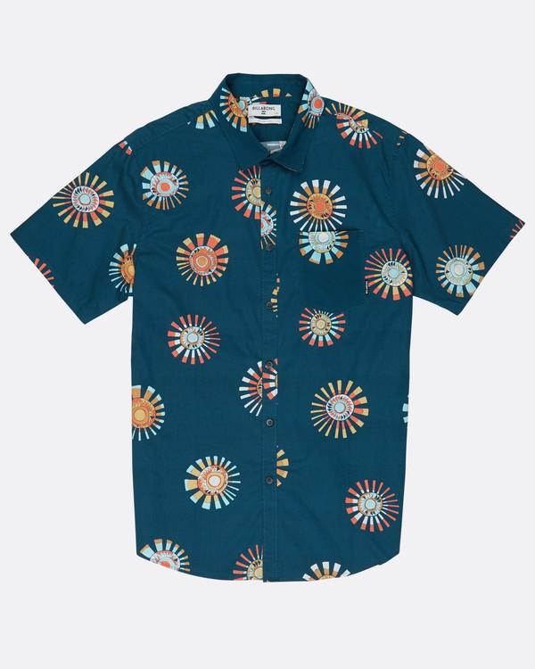 0 Sunday Floral Shirt Bleu H1SH03BIP8 Billabong
