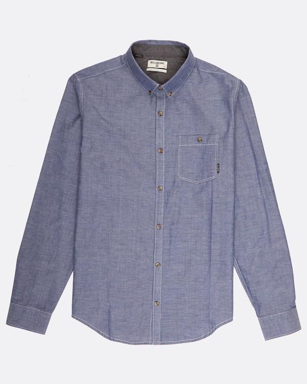0 All Day Chambray Long Sleeve Shirt Bleu H1SH12BIP8 Billabong