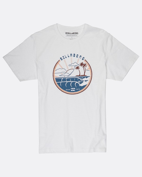 0 Along The Road Organic Cotton T-Shirt Blanc H1SS12BIP8 Billabong