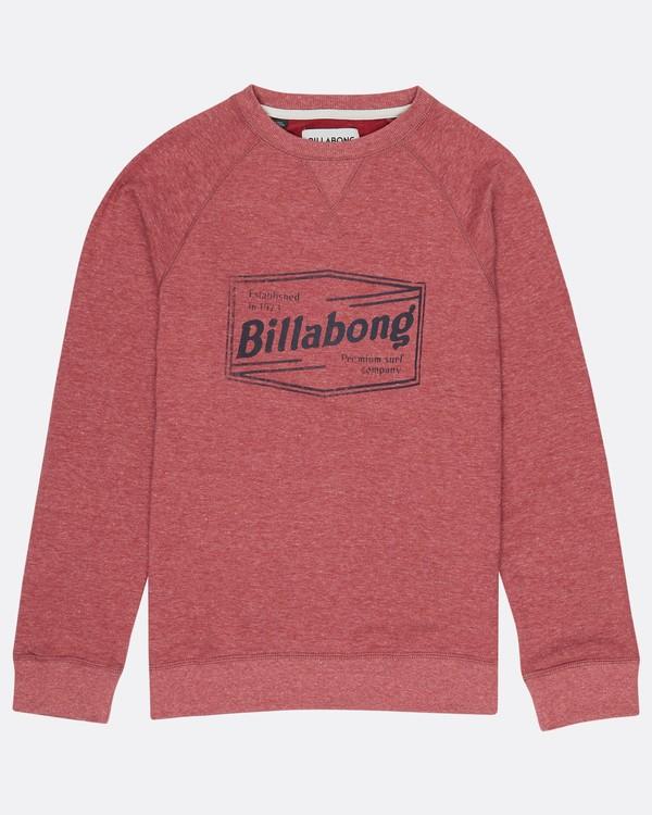 0 Boys Labrea Crew Sweatshirt Marron H2CR01BIP8 Billabong
