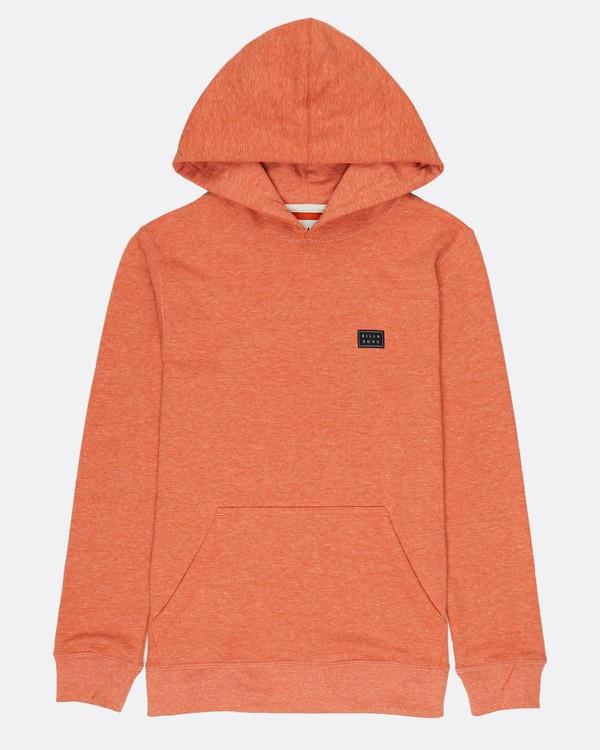 0 Boys All Day Pullover Sweatshirt Orange H2FL03BIP8 Billabong