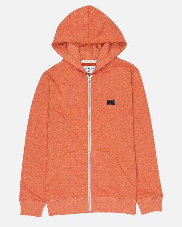 0 Boys All Day Zip Hoodie Orange H2FL04BIP8 Billabong