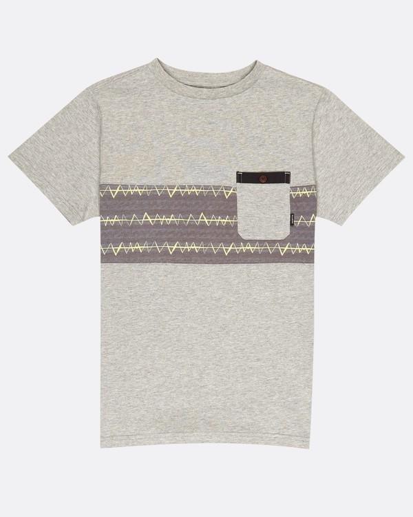 0 Boys Tribong Crew Jersey T-Shirt Gris H2JE03BIP8 Billabong