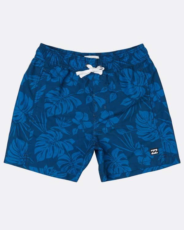 "0 Boys All Day S Floral 14"" Laybacks Boardshort Bleu H2LB07BIP8 Billabong"