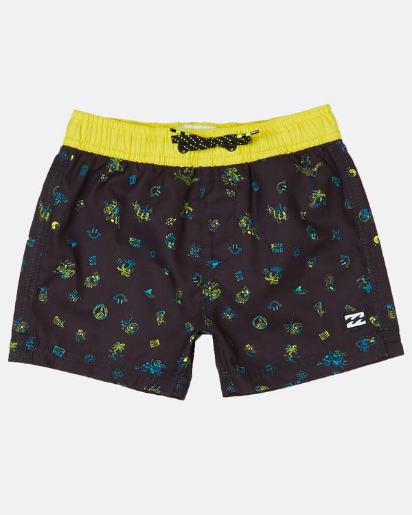 0 Toddler Boys Scribble Laybacks 10 Boardshort Noir H2LB09BIP8 Billabong