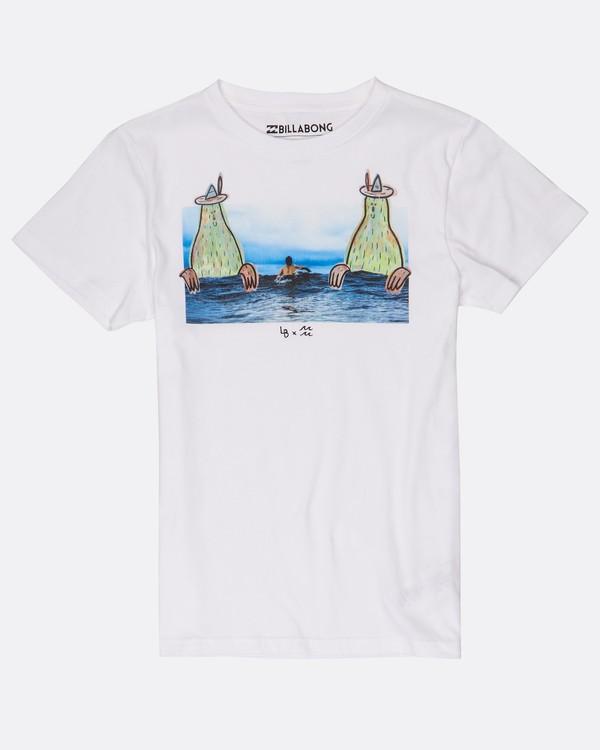 0 Boys Twin Peak T-Shirt Blanco H2SS08BIP8 Billabong