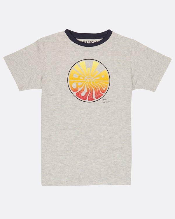 0 Boys Sunset T-Shirt Gris H2SS17BIP8 Billabong