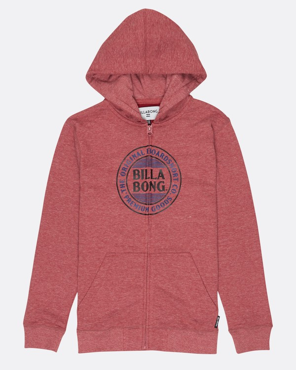0 Boys Danapoint Zip Hoodie Marron H2ZH01BIP8 Billabong