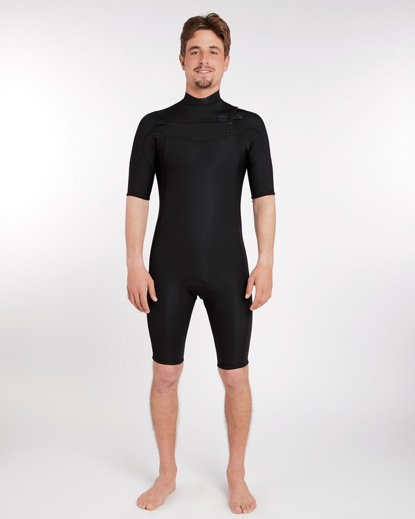 0 2/2 Revolution Gbs Chest Zip Spring Wetsuit Noir H42M14BIP8 Billabong