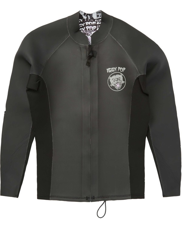 0 2/2 Wild Thing Revolution Glideskin Wetsuit Jacket Noir H42M30BIMU Billabong