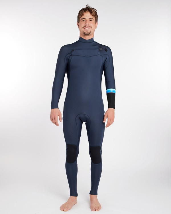 0 3/2 Revolution Dbah Chest Zip Wetsuit Bleu H43M12BIP8 Billabong