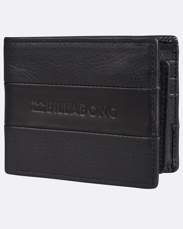 0 Tribong Leather Wallet Noir H5LW03BIP8 Billabong