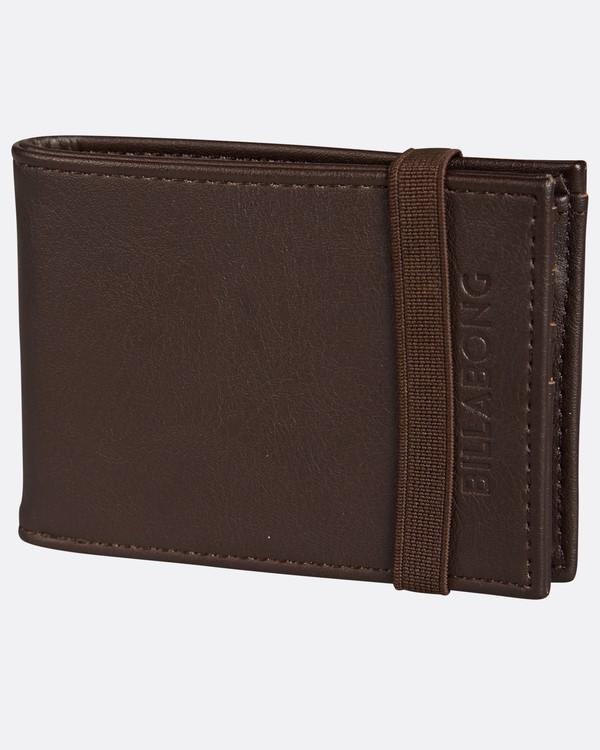 0 Locked Slim Wallet Marron H5WM05BIP8 Billabong