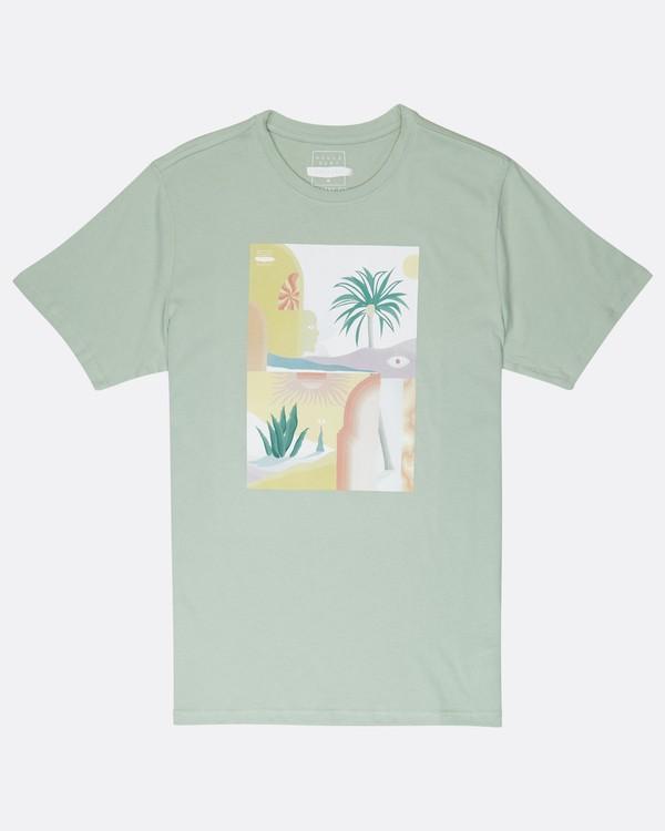 0 Wandering Eye T-Shirt Green J1SS16BIS8 Billabong