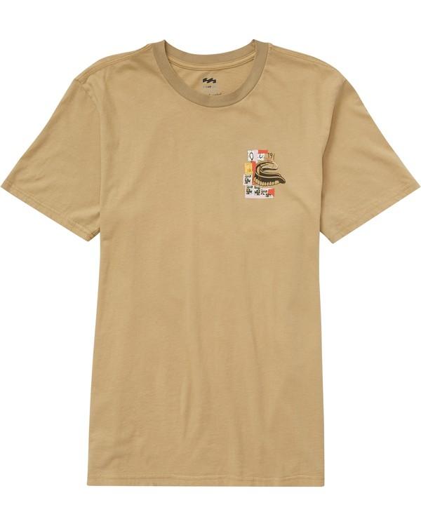 0 Eighty 5 T-Shirt Beige J1SS19BIMU Billabong