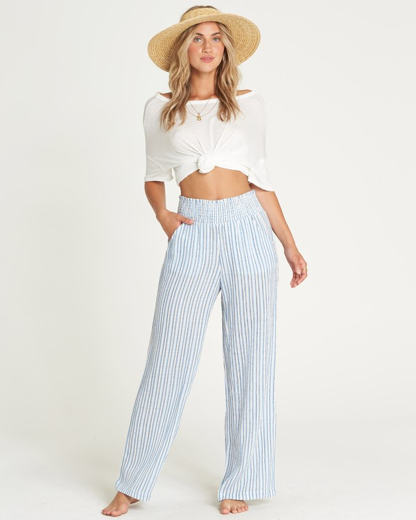 0 New Waves Stripe Pant Blue J323JNEW Billabong