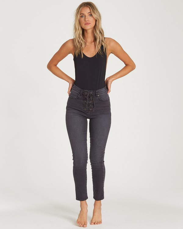 0 Side By Side 2 Skinny Jeans Black J326WBSI Billabong