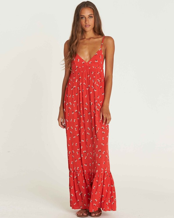 0 Flamed Out Maxi Dress Rouge J3DR08BIS8 Billabong