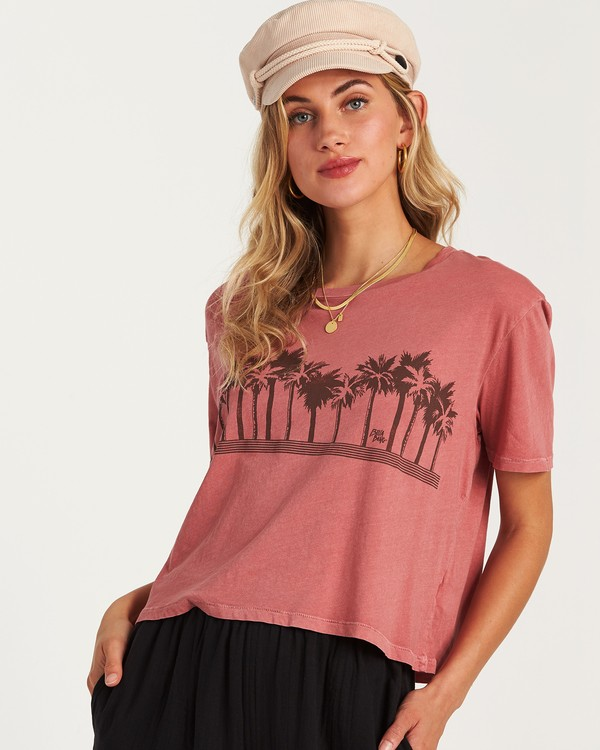 0 Skyline T-Shirt Pink J402VBSS Billabong