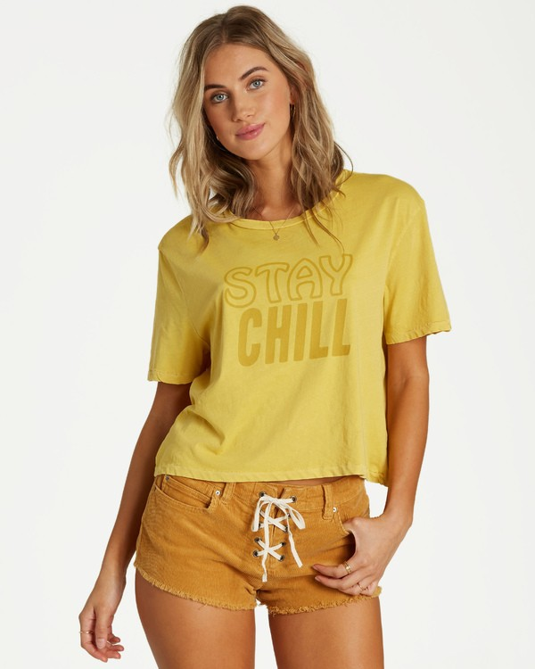 0 Stay Chill T-Shirt Yellow J402VBST Billabong
