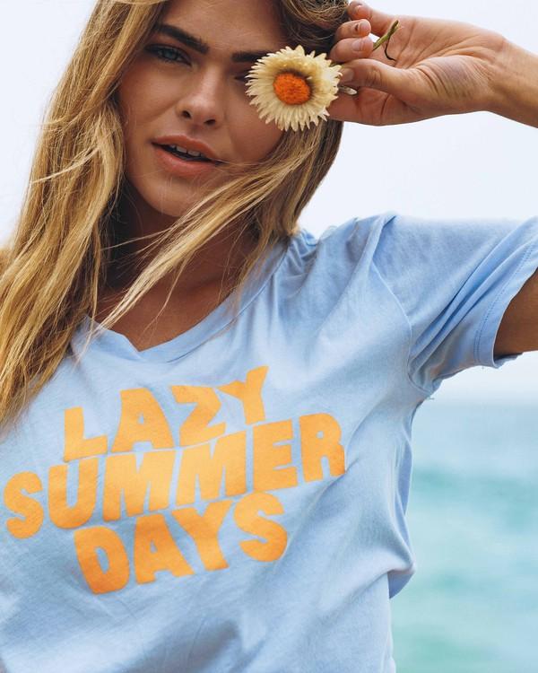 0 Lazy Summer Days Tee Blue J413VBLA Billabong