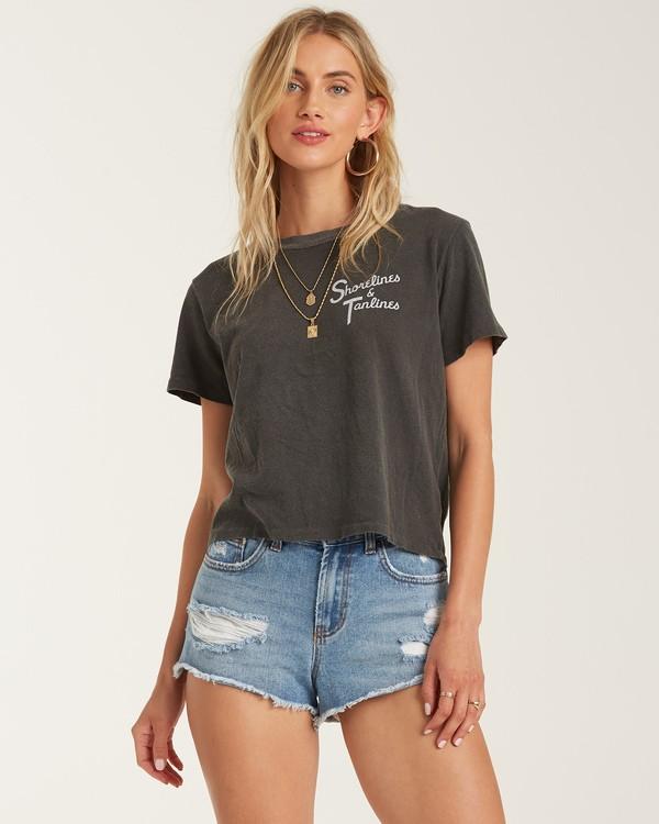 0 Tanlines T-Shirt Black J4212BTA Billabong