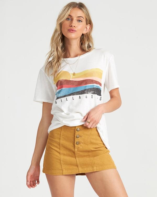 0 Pipe Dream T-Shirt White J4371BPI Billabong