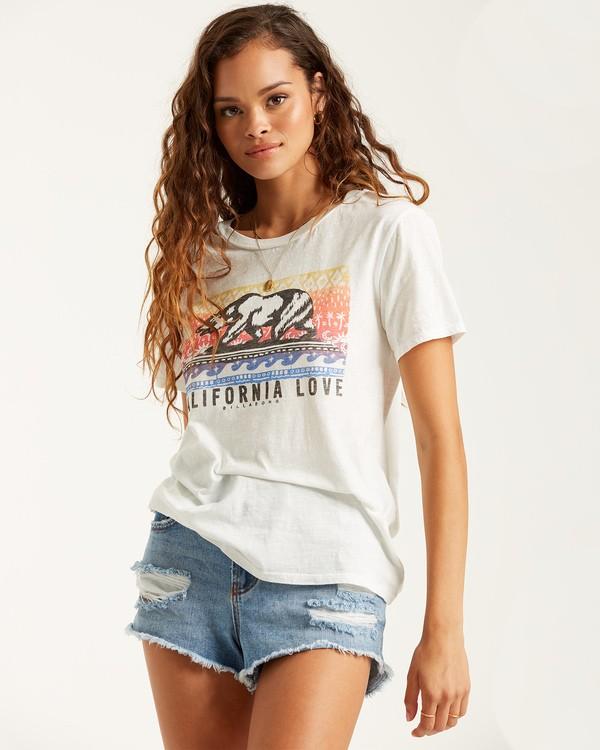 0 Cali Sunshine T-Shirt White J4372BCA Billabong