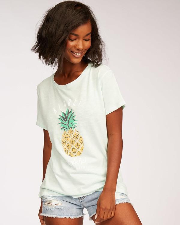 0 Waikiki Pineapple Love T-Shirt Green J437MPIR Billabong