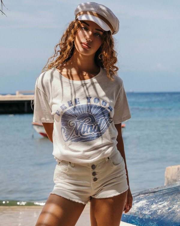 0 Free Your Mind T-Shirt White J437VBFR Billabong