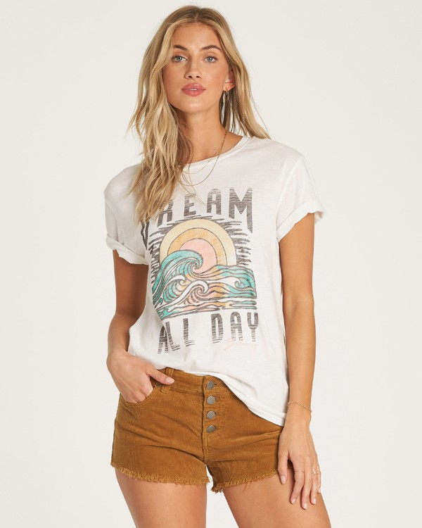 0 Dream All Day T-Shirt White J437WBDR Billabong
