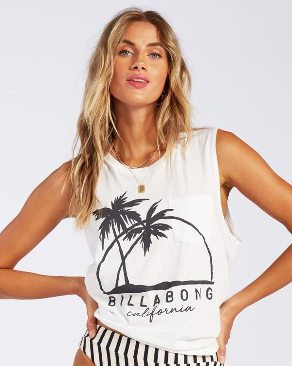 0 California Palm Horizon T-Shirt  J4421PCA Billabong