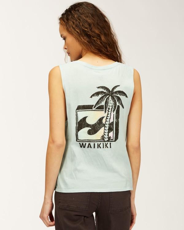 0 Waikiki Back To The Beach Tank Top Blue J442QBBR Billabong