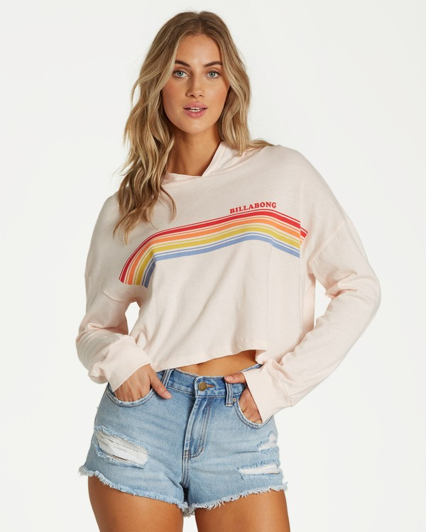 0 Rainbow All Day Long Sleeve T-Shirt Pink J444VBRA Billabong