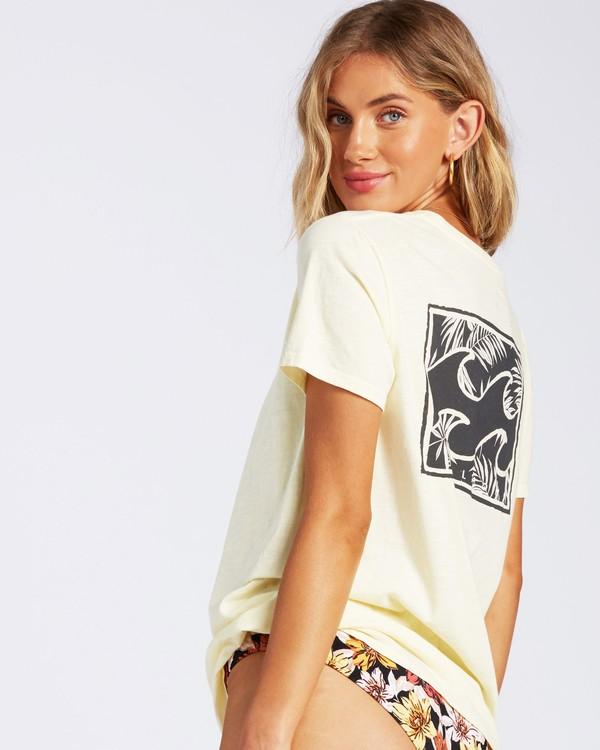0 Flower T-Shirt Yellow J4671FEC Billabong