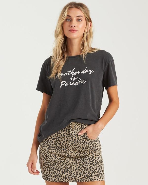 0 Another Day T-Shirt Black J4673BAN Billabong