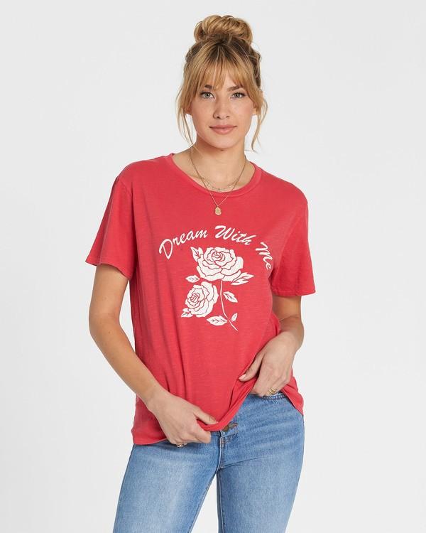 0 Red Rose Dream T-Shirt  J467SBRE Billabong