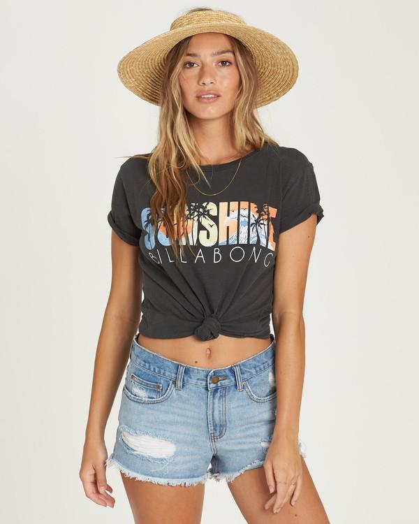 0 Sunshine Palms T-Shirt Black J467UBSU Billabong