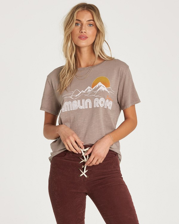 0 Ramblin Road T-Shirt Beige J467WBRA Billabong