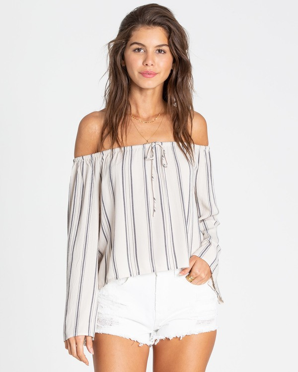 0 Light It Up Off-The-Shoulder Top White J503TBLI Billabong