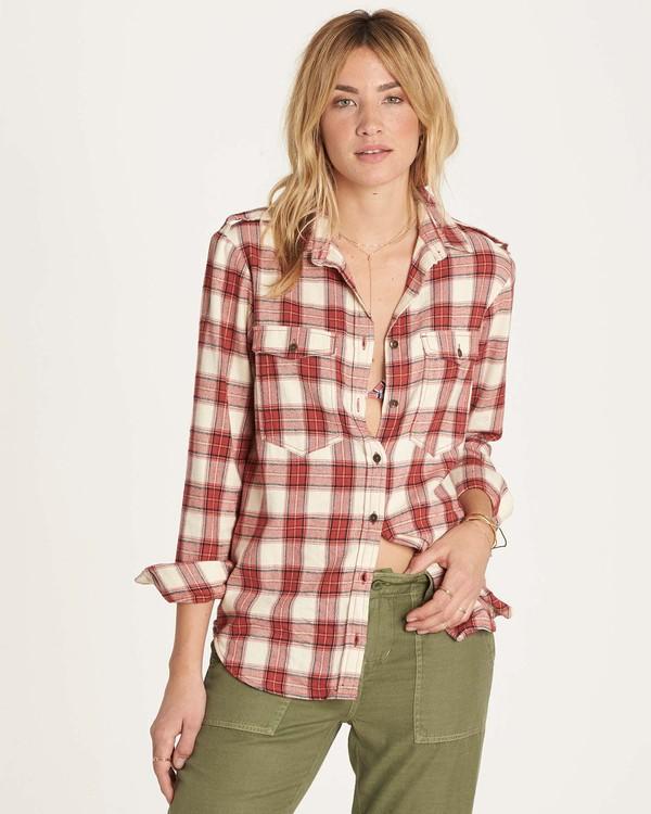 0 Venture Out Long Sleeve Flannel Shirt Brown J507MVEN Billabong