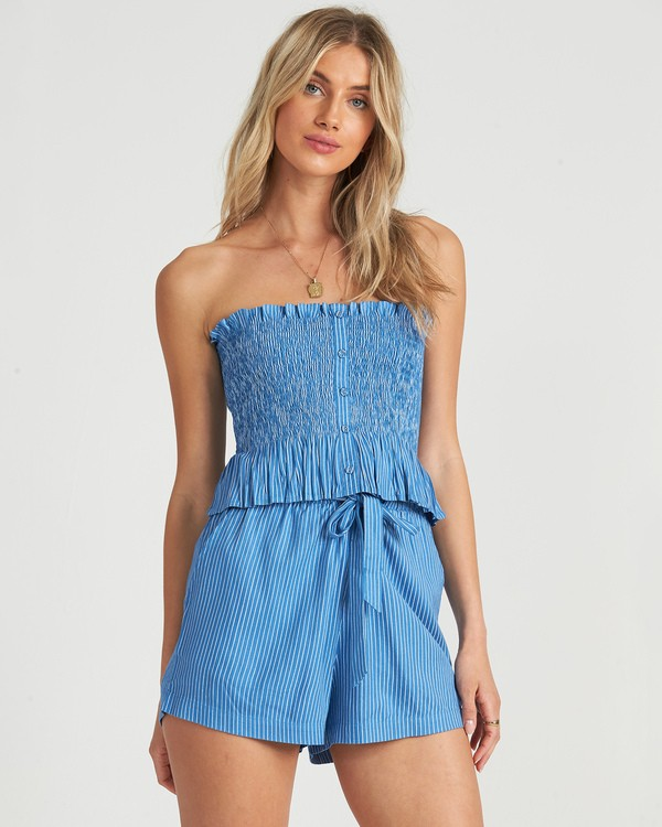 0 Well Grounded Top Blue J5231BWE Billabong