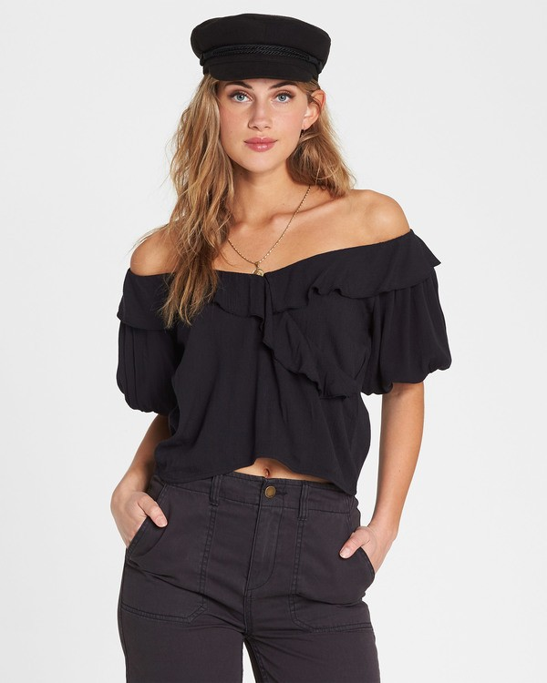 0 Babes For Days Woven Off-The-Shoulder Top  J525SBBA Billabong
