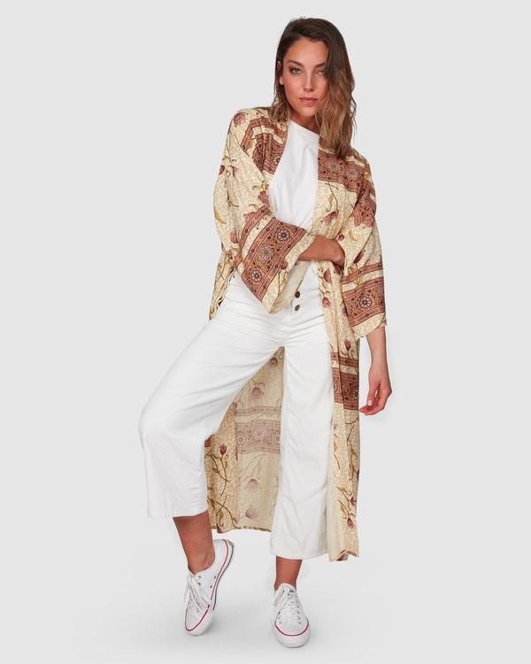 0 Drift Away Kimono Top White J5833BDR Billabong